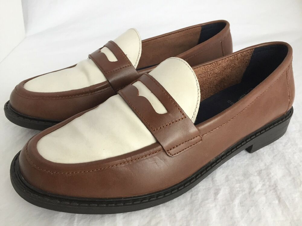 0fc28114194 COLE HAAN Pinch Marine Classic Brown Leather Penny Loafers Women s Size 8 B