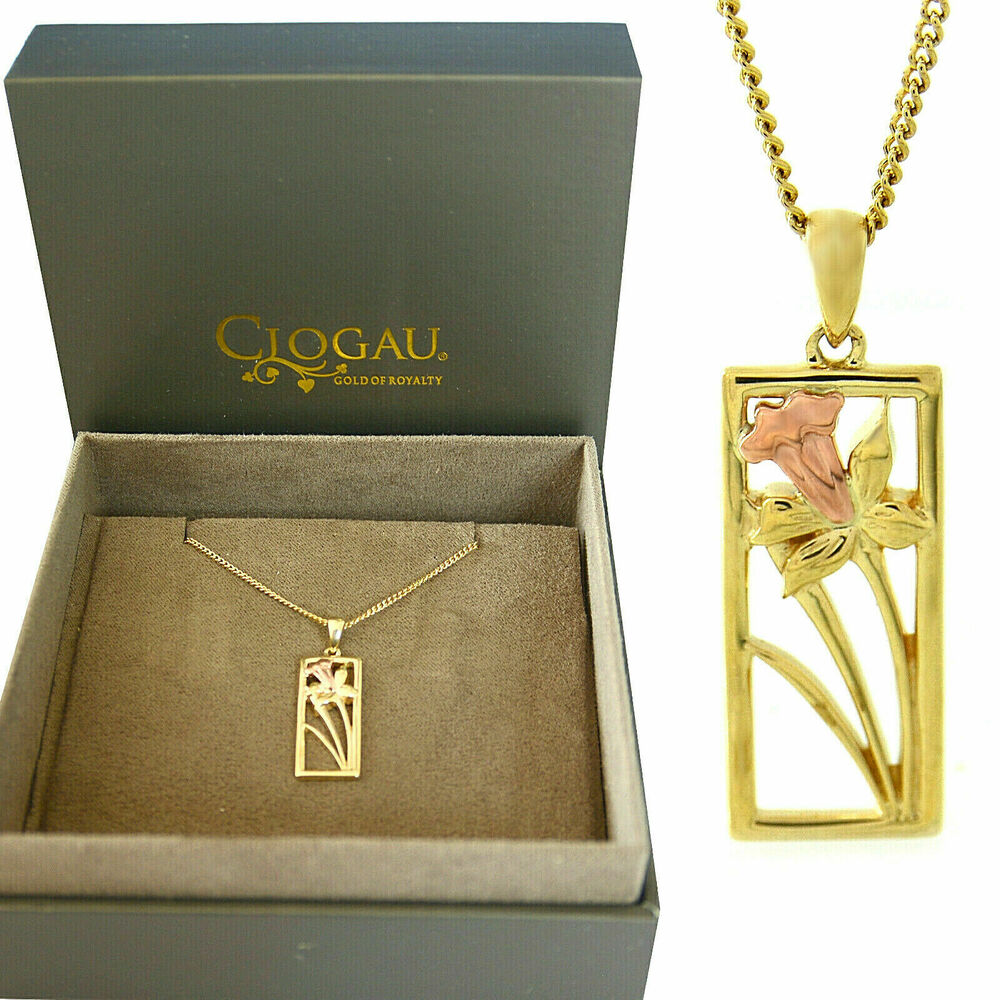 ea72145a3 Details about Clogau Welsh 9ct Yellow and Rose Gold St Davids Daffodil  Pendant
