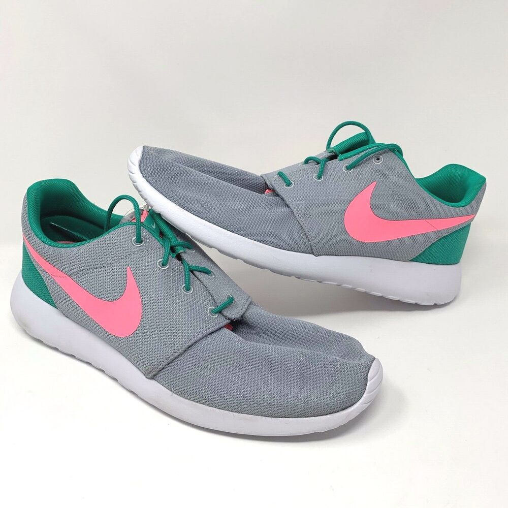 a12f5995f8ce13 Details about Nike Roshe One Run South Beach Mens Sz 11.5 Running Shoes  Green Pink 511881-036