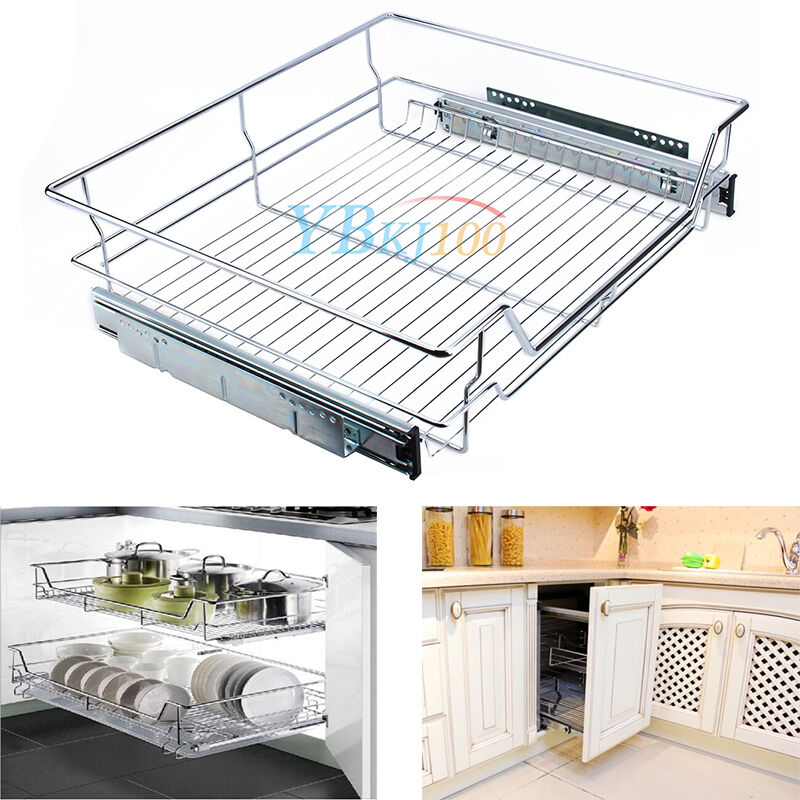 Wire Drawers For Kitchen Cabinets: Sliding Storage Drawer Drawers Pull Out Wire Basket Shelf
