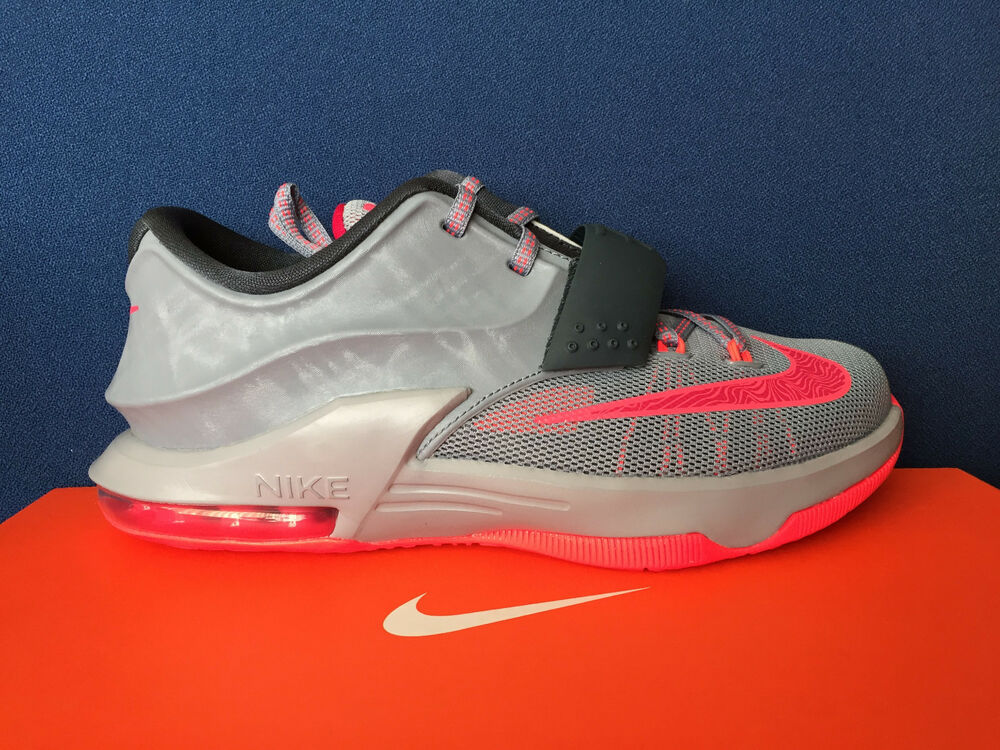 super popular c7c23 4d9cf Details about Nike KD 7 VII GS sz 4.5Y Calm Before the Storm Grey Red Kevin  Durant 669942-001