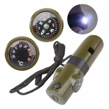img-7 in 1 Survival Kit: Compass, Torch, Whistle, Mirror & more! UK Stock. FREE P&P