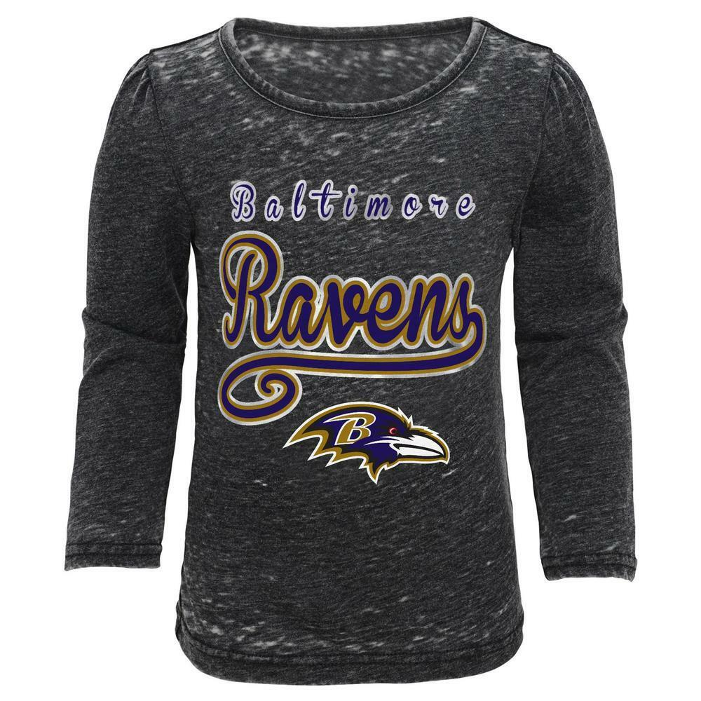 8288c873d72 Details about Baltimore Ravens NFL Toddler Girls' Long-Sleeve T-Shirt, Size  2T - NWT