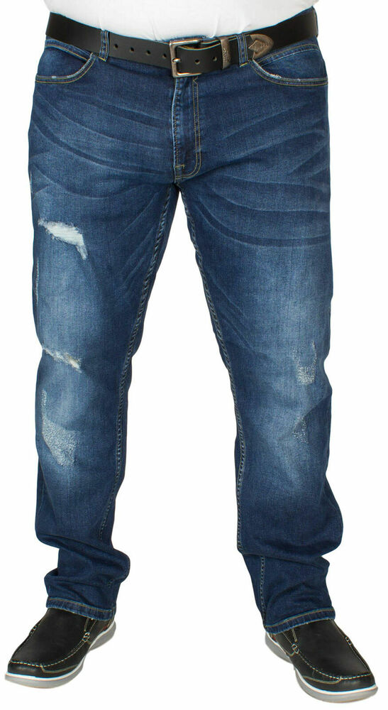 438f7e7bfd5 Details about D555 Men's Big Plus Size Jeans Stretch Ripped Distressed  Denim Pants Big Tall