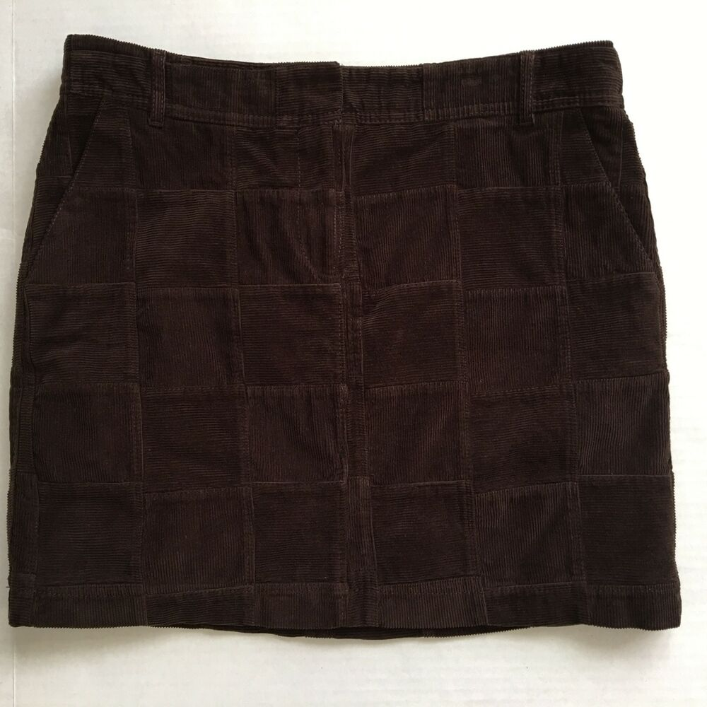 b1c6abe45f Details about NWT Ann Taylor LOFT sz 6 women's skirt brown corduroy lined,  front pockets
