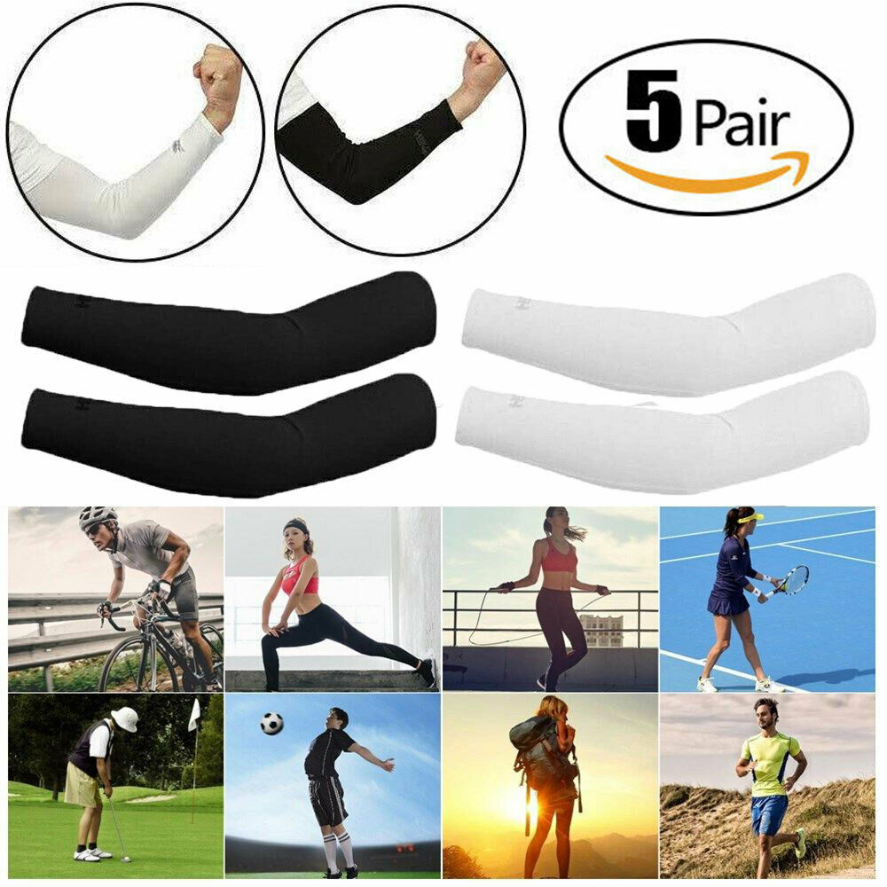 Basketball Training Compression Arm Sleeves Cycling Sun UV Protective