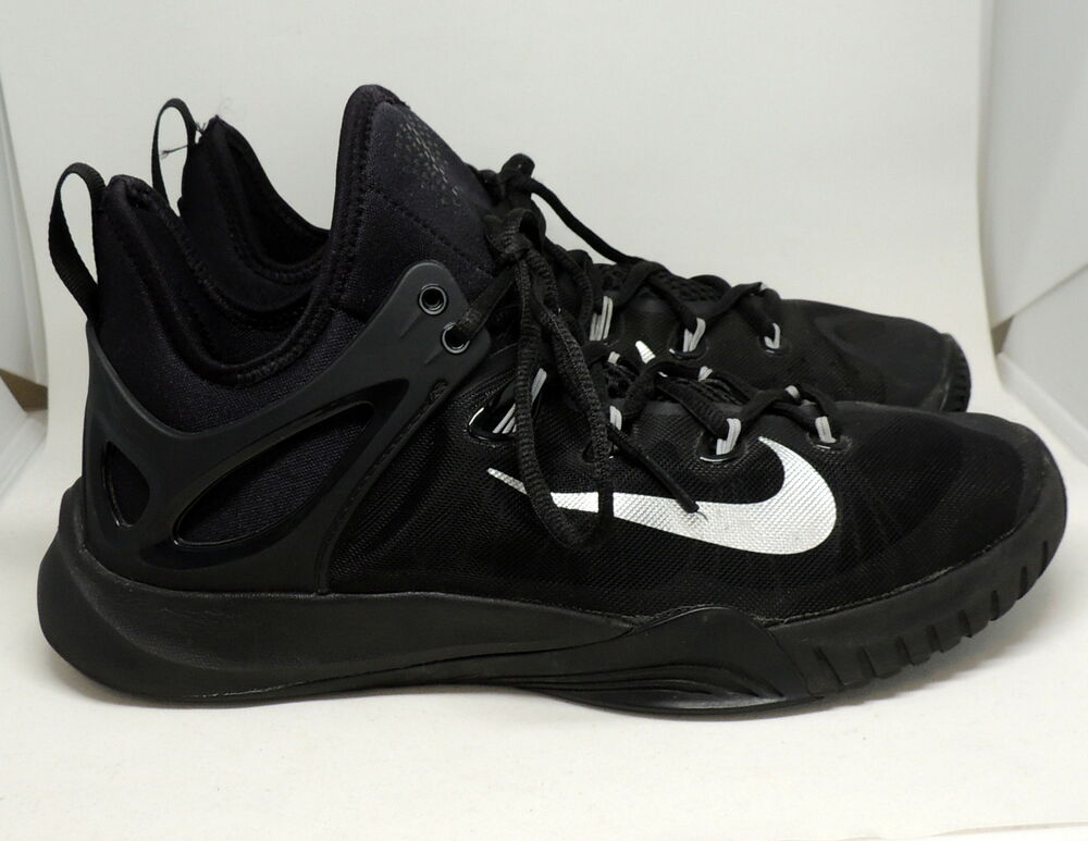 0bb37c4431c4c Details about Nike Zoom HyperRev 2015 Black Metallic Silver Men s 8  Basketball Shoes 705370