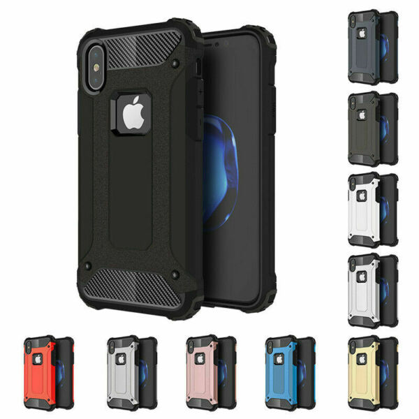 Shockproof Armour HeavyDuty Tough Hybrid Cover For iPhone XS Max XR 6 7 8 11 Pro
