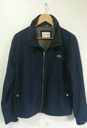 Lacoste Mens Jacket, Water Resistant, Hooded, Summer Casual, Size Medium