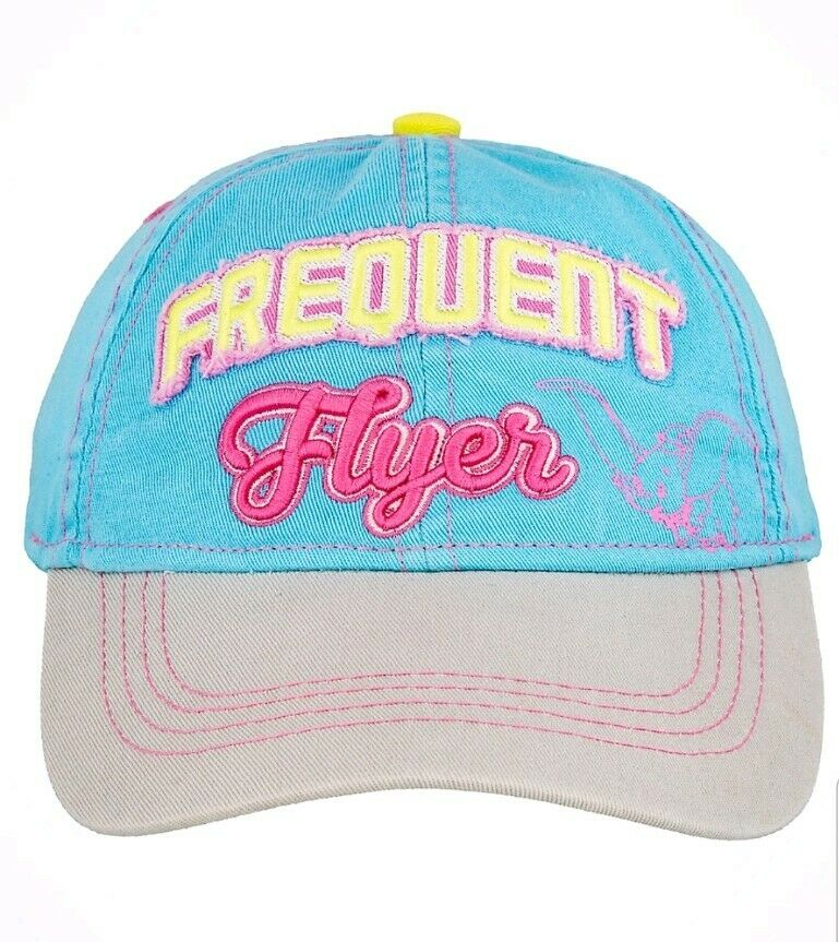 a09568f766f61 Details about Disney Parks Dumbo W  Feather Frequent Flyer Adult Baseball  Cap Hat