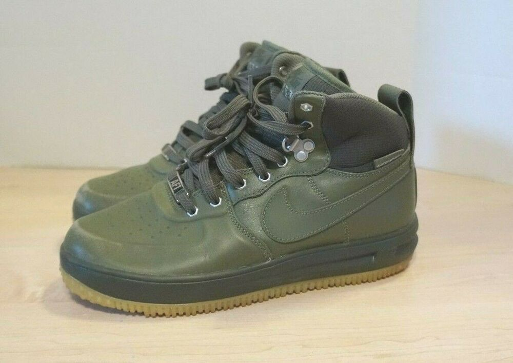 quality design 7ffda ad1b4 Details about Nike Boys Air Lunar Force 1 Sneakerboot GS Youth Olive Green  706803-202 SZ 7Y
