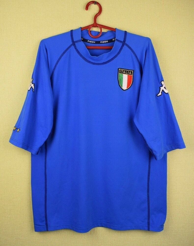 4c96ccc343 Details about Italy team 2000/2002 Home official kappa jersey shirt football  world cup XL