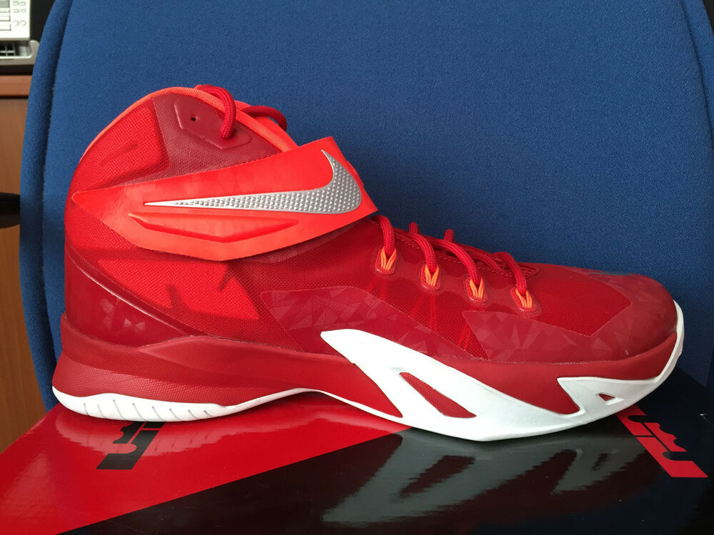 e3d0ada28b1f7 Details about Nike Zoom Soldier VIII 8 Gym Red White Lebron 17 Men basketball  shoes 653648-606
