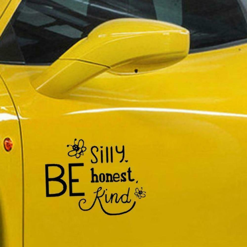 Details about bee silly honest kind car window bumper stickers vinyl decal 15 3cm x 11 8cm