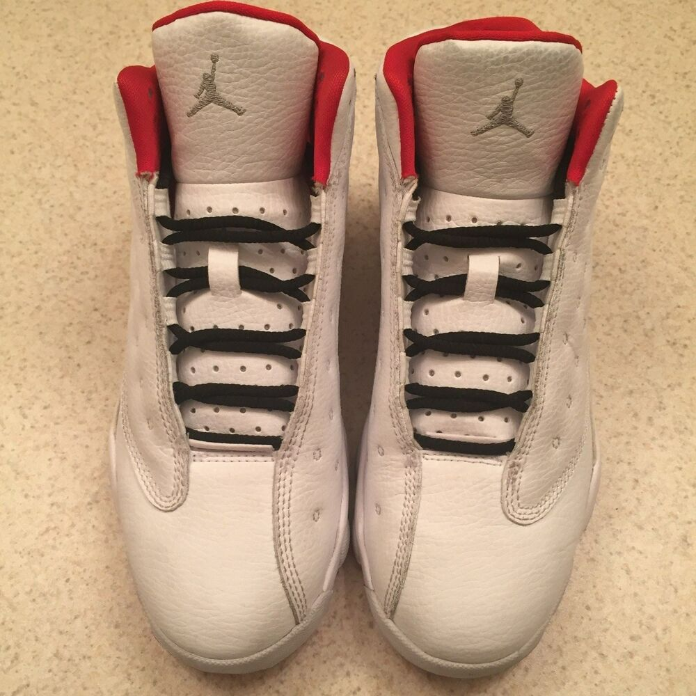 d6ab8b5bb10354 Details about Nike Air Jordan Retro 13 XIII History of Flight White Red  414575-103 Size 3Y