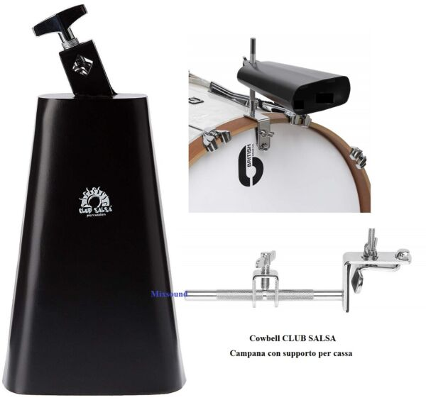 Tycoon Cowbell Black Pearl Dry Rock Bell TY820024