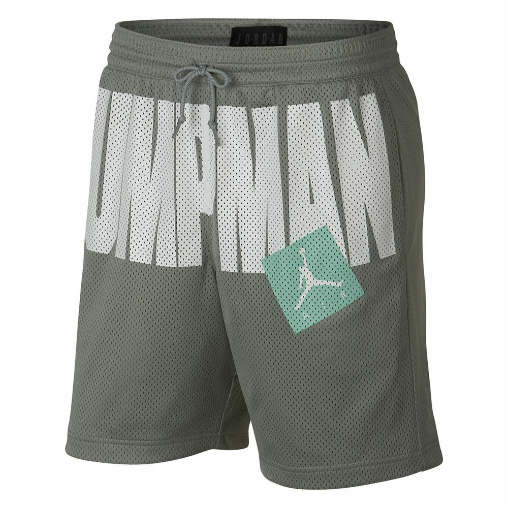 781bd3ed549b75 Details about Nike Air Jordan Jumpman Mica Green Mint White Men s Shorts 2XL