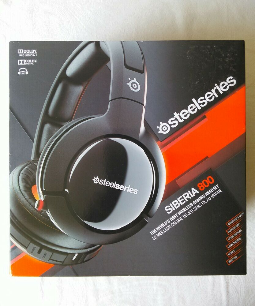 18e1aec56f3 New in Box SteelSeries Siberia 800 Black Wireless Gaming Headset  780746616290 | eBay