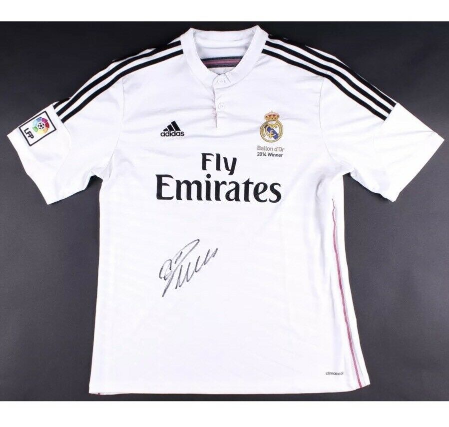 ce84109f928 Details about CRISTIANO RONALDO Autographed Real Madrid Jersey Shirt ICONS