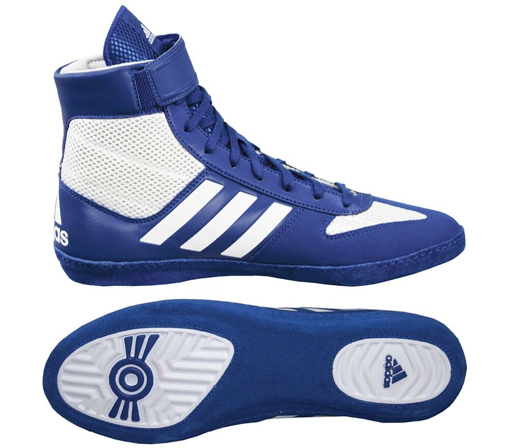 finest selection 728f6 87738 Details about Adidas   F99972   Combat Speed 5   Royal White Wrestling Shoes    Brand New!