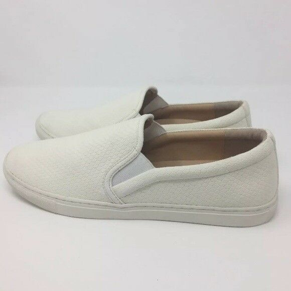 827142519fc3 Details about J Slides NYC Ariana White Snake Embossed Lux Cathie Slip On  Sneaker Size 10