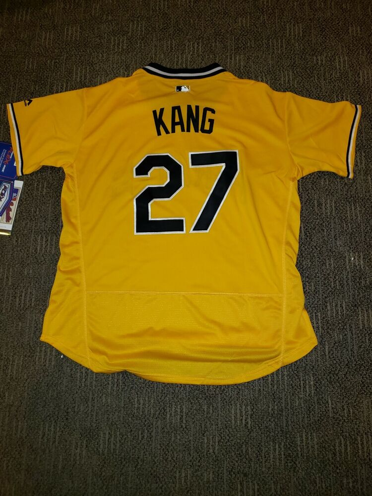 f14d9fa08 Details about Jung Ho Kang jersey  27 Pittsburgh pirates cool base yellow  alternative XLarge