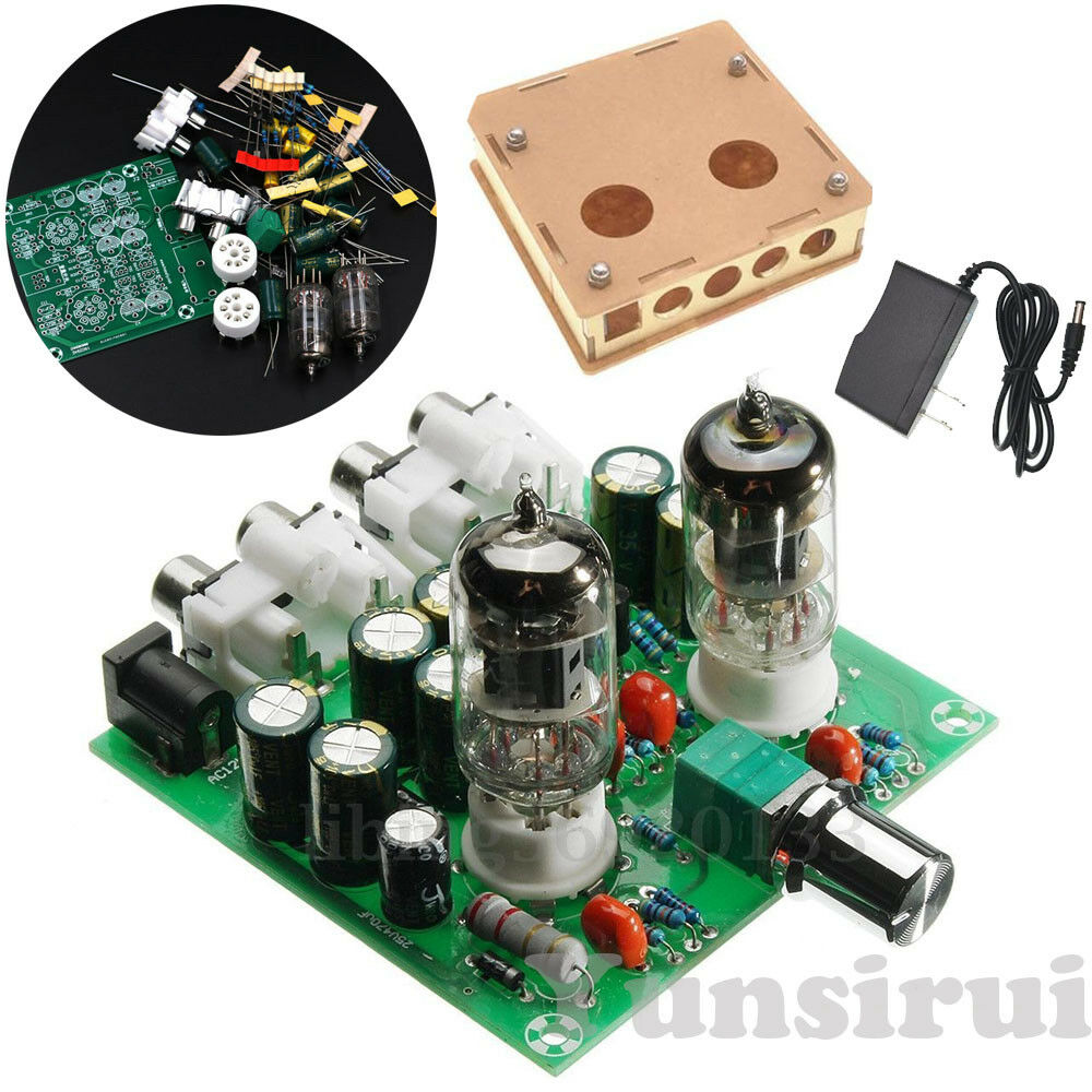 6J1 Valve Pre-amp Tube Board Headphone Amplifier+Case ...