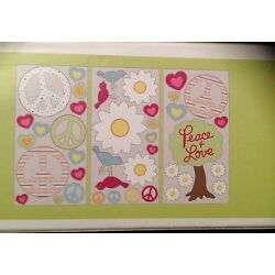 CIRCO Wall Decals Birds Flowers Hearts Peace Girl Collection NEW Pink Girls