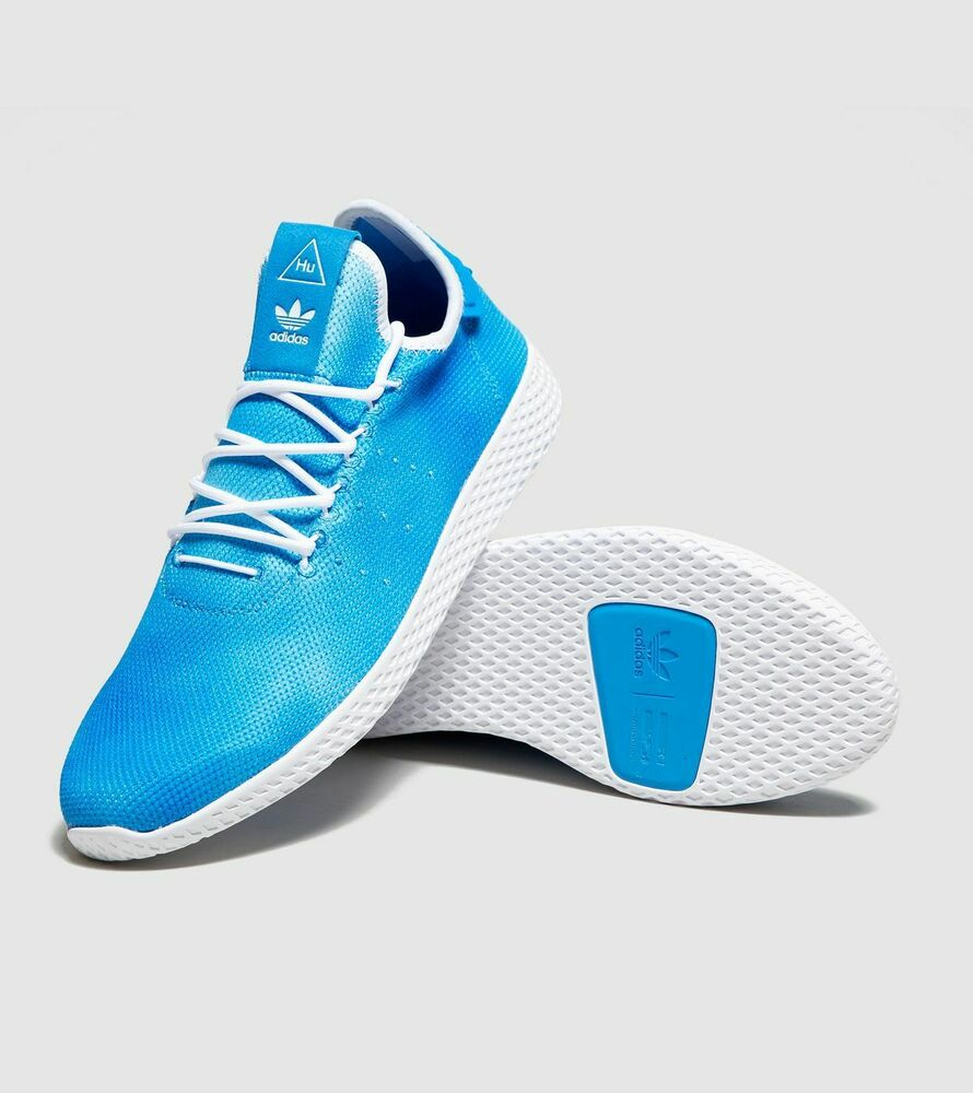 c08692c8b7831 Details about ADIDAS PHARRELL WILLIAMS HU HOLI TENNIS HUMANITY DA9618 BLUE CLOUD  WHITE Sz 10