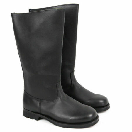 img-WWII GERMAN ARMY EM LEATHER COMBAT OFFICER LEATHER BOOTS COLLECTIBLE