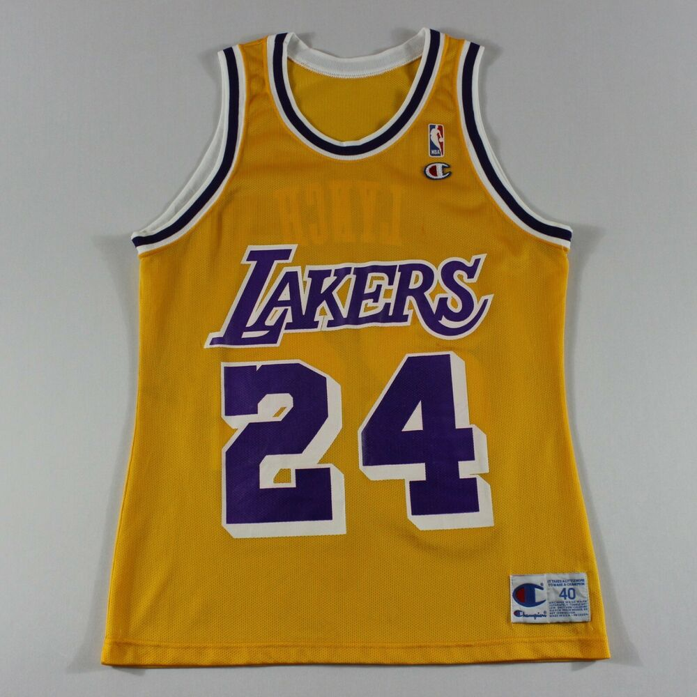4695b520541 Details about George Lynch 40 M Champion Los Angeles Lakers Jersey 93-94  Vintage #24 kobe