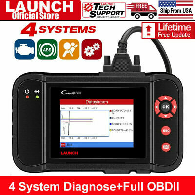 LAUNCH X431 Creader VII+ Auto Diagnostic Tool OBD2 Code Reader Scanner As CRP123