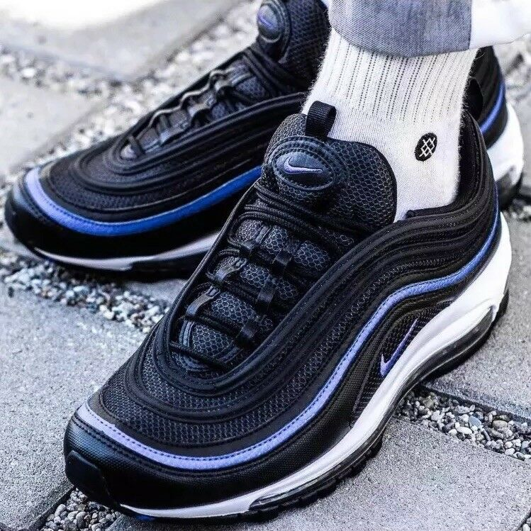 buy popular 3f18d b9bf9 Details about Nike Air Max 97 OG Anthracite Black Racer Blue Uk Sizes 7-11  AR5531-001