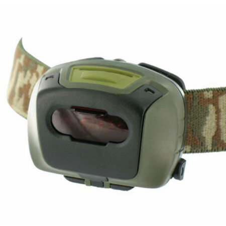 img-ARMY CAMO LED TACTICAL HEAD TORCH LAMP RED FILTER EMERGENCY FLASHING MODE CADET