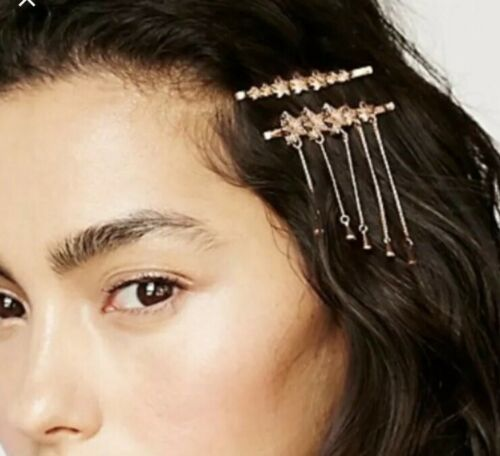NWT FREE PEOPLE  Star Constellation Bobby Pin Set, Rose Gold  Hair Accessories