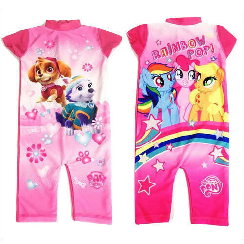 1a3b38a462 Girls My Little Pony or Paw Patrol Character UV Swim Suit Swimming Costume  | eBay