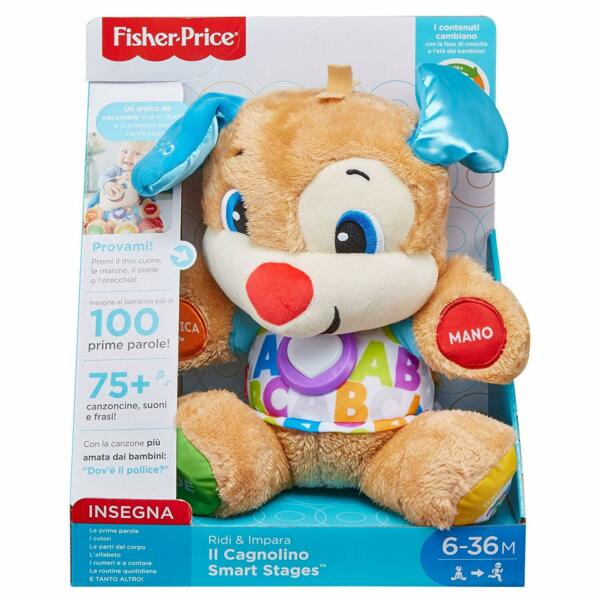 Fisher-Price Il Cagnolino Smart Stages Ridi e Impara, Mattel FPM51