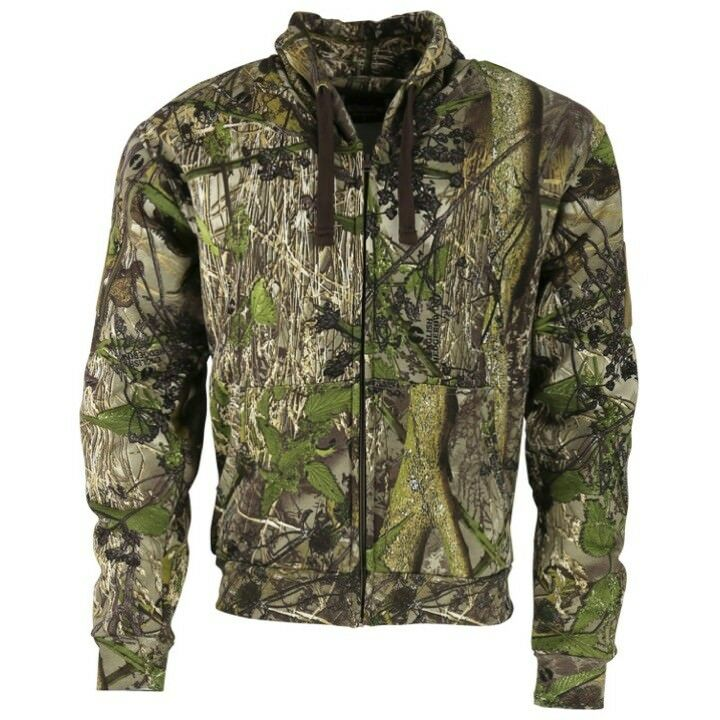 5894880608bdb Details about MENS CAMOUFLAGE HUNTING HOODIE S-2XL FULL ZIP JACKET HEDGEROW  CAMO HOODY ARMY