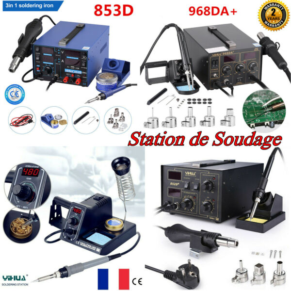 Fer à souder Station de Soudage Air Chaud Soudure Électrique SMD LED Pistolet FR