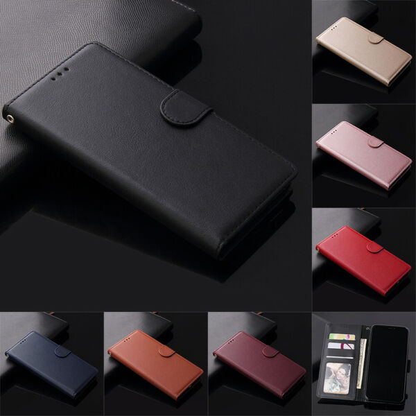 For Xiaomi Redmi Note 8 7 6 5 Pro Magnetic Flip Card Wallet Leather Case Cover