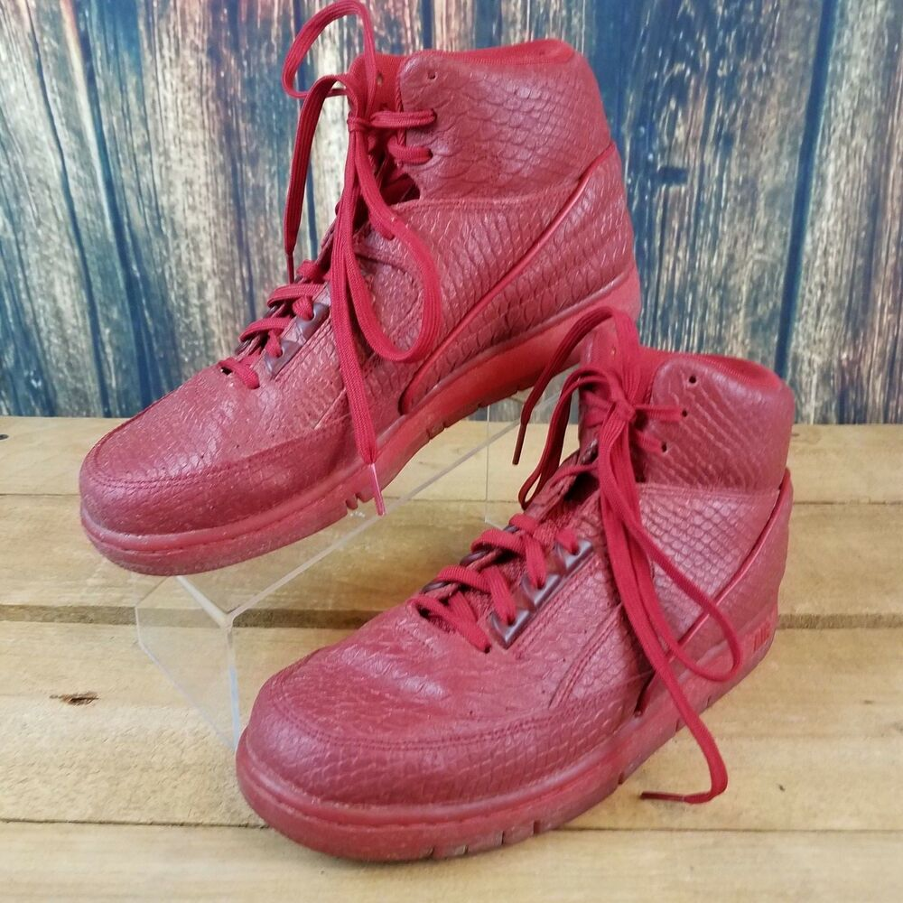 outlet store fcf8e 0d72a Details about Nike Mens Air Python PRM Red 705066-600 High Top Basketball  Shoe Size 8.5