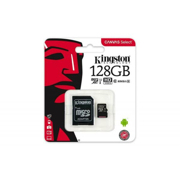 MICRO SDHC 128GB CLASSE 10 SDCS/128GB UHS-I KINGSTON CANVAS SELCET  - MICROSD 12