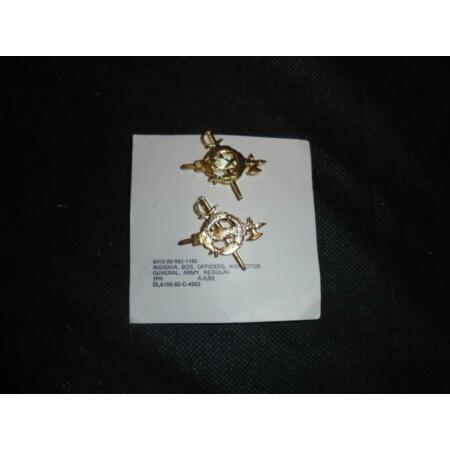 img-Genuine Pair of US Military Army Inspector General Officers Collar Dogs
