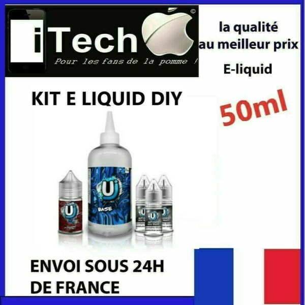 E liquide 50 ML -pour cigarette electronique -menthe -  fruits - FRANCE kit DIY