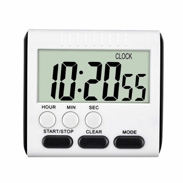 Large Digital LCD Kitchen Cook Timer Count-Down Up Clock Alarm Magnetic Tool EN