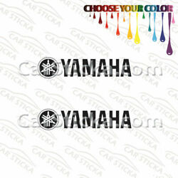 2 of 8'' to 20'' Yamaha  /A motorcycle bumper window vinyl stickers decals die cut