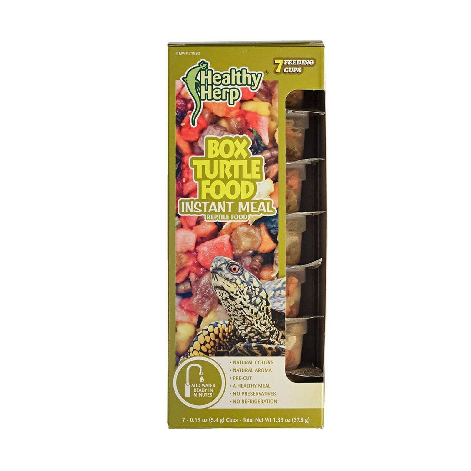 Healthy Herp Box Turtle Food Instant Meal 7 X 0.19-ounce (5.4 Grams) Cups