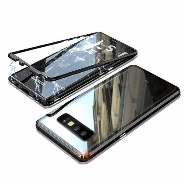 Magnetic Adsorption Case Cover & Screen Protector For Samsung Galaxy S8 S10 Plus