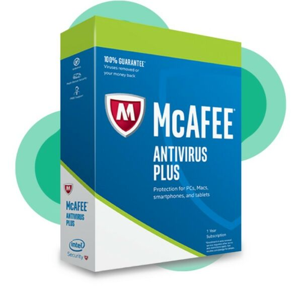 Download McAfee Antivirus PLUS Protection 2020 Unlimited Users 12 Months License