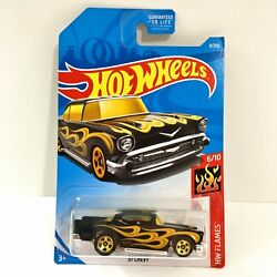 *NEW* HOT WHEELS - 2019 '' '57 Chevy'' HW FLAMES 6/10 *SHIPS FAST*